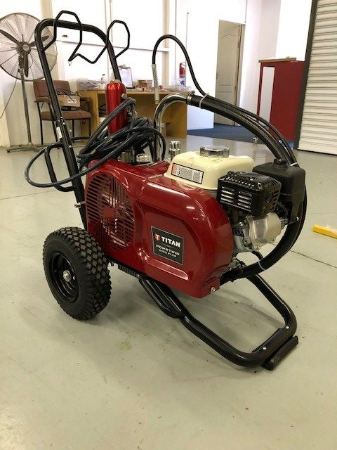 used airless paint spraying machine